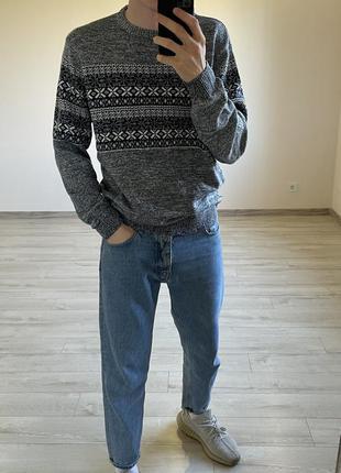 Джемпер свитер вязаный свитер