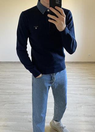 Шерстяной джемпер свитер gant