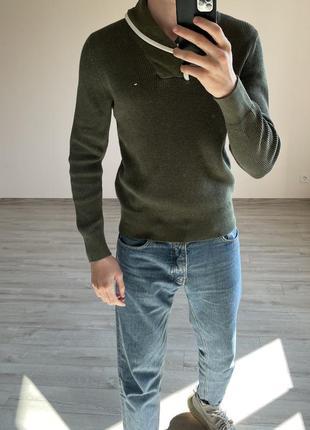 Свитер с горлом джемпер гольф пуловер tommy hilfiger