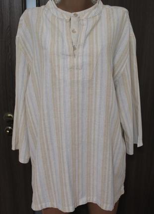 Натуральная блузка рубашечного кроя f&f в идеальном состоянии 4xl