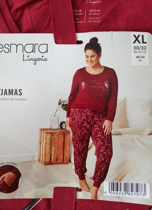 Натуральная пижама р.xl (20-22) евро германия
