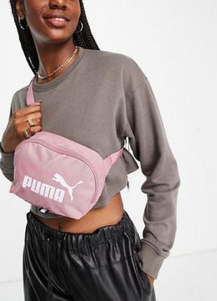 Шикарная розовая бананка, поясная сумка puma! оригинал!
