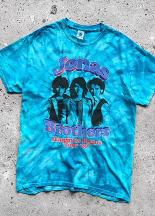 Colortone jonas brothers begins tour 2020 tye dye футболка