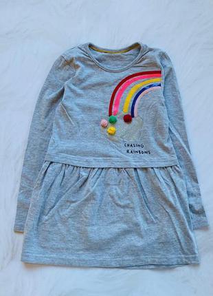M&s   стильное платье на девочку   6-7 лет