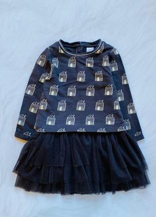 Miniclub стильное платье на девочку  1-1,5 года