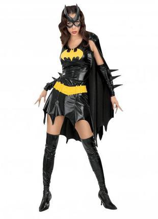 Костюм бэтгёрл batgirl batman кожаный латексный