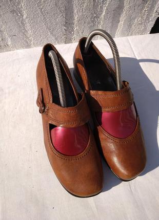 Комфотные туфли из натуральной кожи gabor