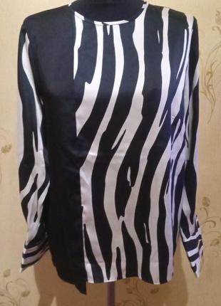 Блуза зебра mango