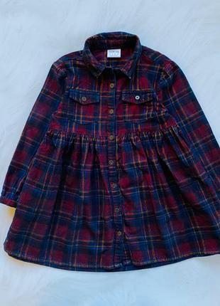 F&f стильное вельветовое  платье на девочку  4-5 лет
