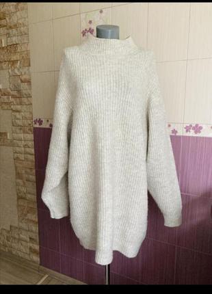 Светр (свитер, кофта) овесайз zara xxl-xl в ідеальному стані