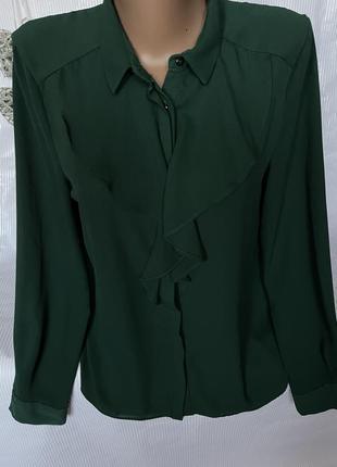 Стильная изумрудная блуза zara