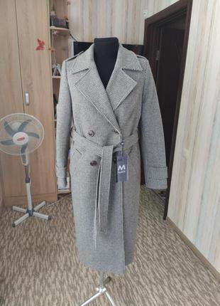 Шикарное двубортное пальто 48-50 размер
