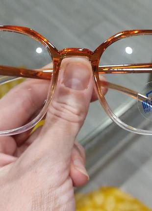 Новые стилтные прозрачные очки