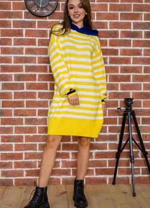 Худи- платье миди тёплое свитер оверсайз цвета s m l