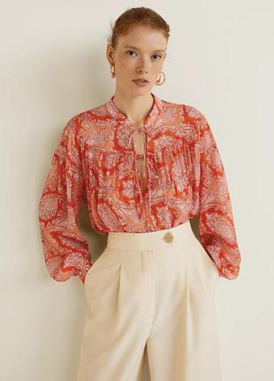 Ефектна блуза , виконана в етно стилі , mango, розмір м❤️