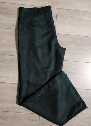 Брюки штаны 100% лен черные