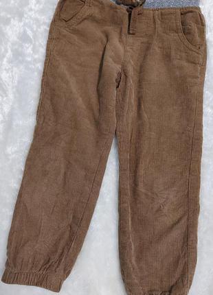 Стильні утеплені штани/джогери на 3-4 роки