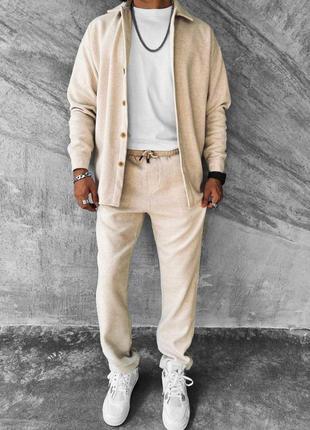 Прогулочний спортивний костюм рубашка брюки