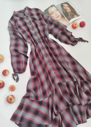 Дуже красиве плаття-сорочка в клітинку від capsule розмір l-xl