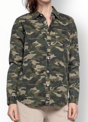 Оверсайз милитари рубашка