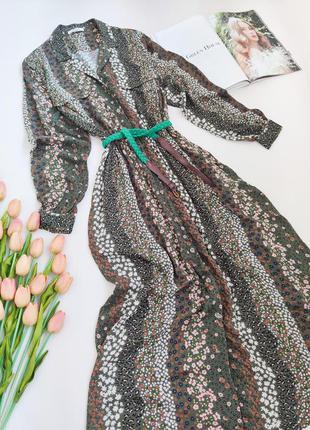 Дуже красиве плаття сорочка-міді з кишеньками та ременем від springfield розмір м-l