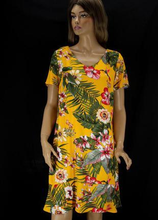 Красивое платье street one в цветочный принт. размер uk14eur40.