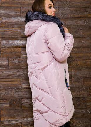 Удлинённая куртка с капюшоном цвета  xs s l