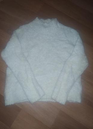 Шикарный свитер барашек гольф водолазка с шерстью и альпака