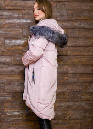 Демми куртка качество бомба миди с капюшоном xs s l