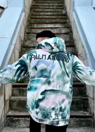 Худи palm angels hawaii утепленная флисом