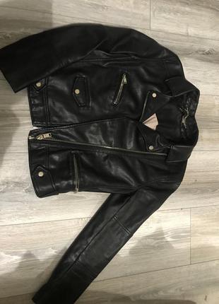 Куртка косуха кожанка h&m