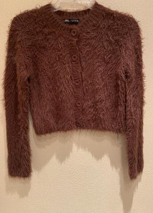 Женский тёплый свитер zara
