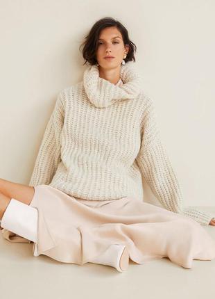 Оюьемный свитер оверсайз толстой вязки