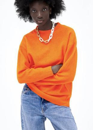 Свитер оранжевый zara