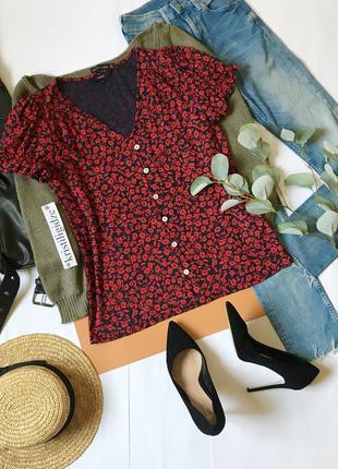 Блуза с цветами 12/л