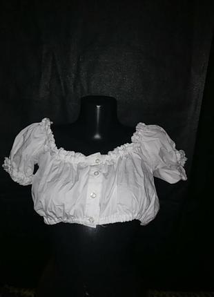 Австрийская баварская блузка топ под дирднль