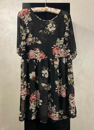 Красивая блуза туника с баской большой размер