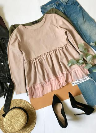 Красивая блуза с фатином