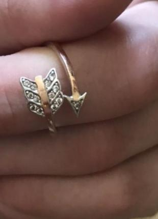 Кольцо серебро с золотыми пластинами