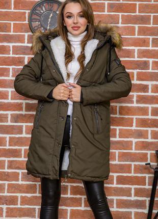Стильная свободного покроя куртка зимняя в 44 размере xs s