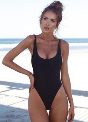 6-40 женский черный слитный купальник жіночий суцільний купальник