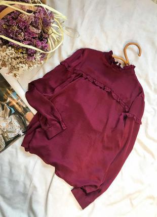 Блуза сатинова