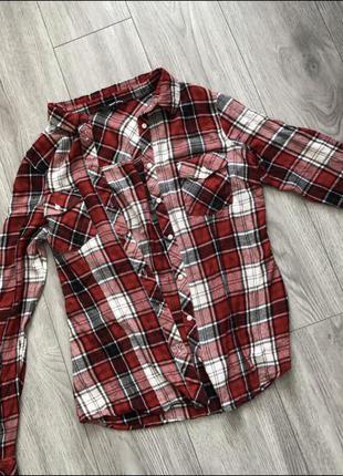 Клетчатая рубашка сорочка в клітинку tally weijl