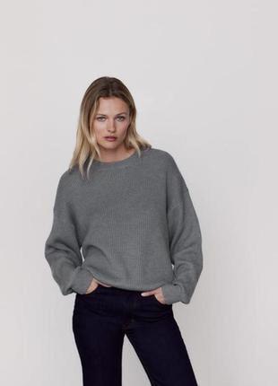 Классный коттоновый свитер zara