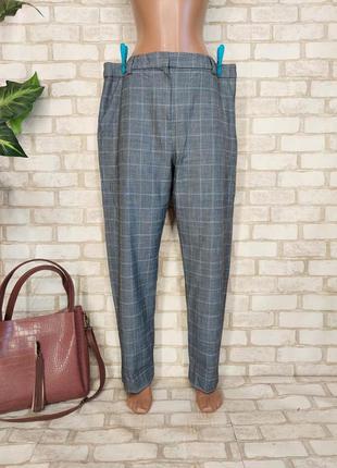 Фирменные marks & spenser мега просторные штаны в крупную клетку, размер 3-5хл