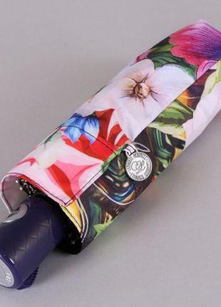 Зонт мини 21 см женский полный автомат романтичная прага