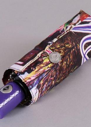 Зонт компактный 21 см женский полный автомат lamberti цветущая вена