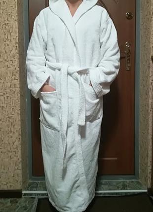 Махровый халат плотный египет 12-16 или 46-50 размер