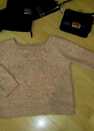 Кофта / свитерок  / кофточка плюшевая меховая травка мягенькая пудровая персиковая