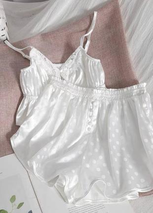 Пижама в горошек шёлк